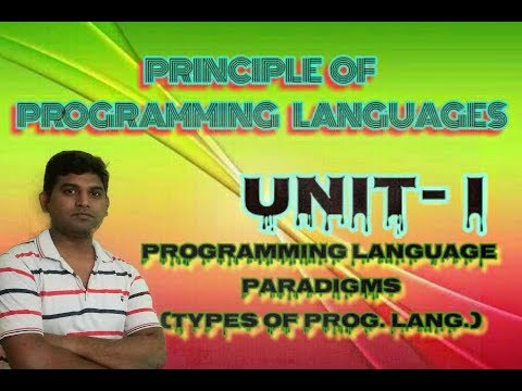 PPL Lecture 2: Programming Language Paradigms Imperative Functional Rule based OOPs by VishwakarmaJi