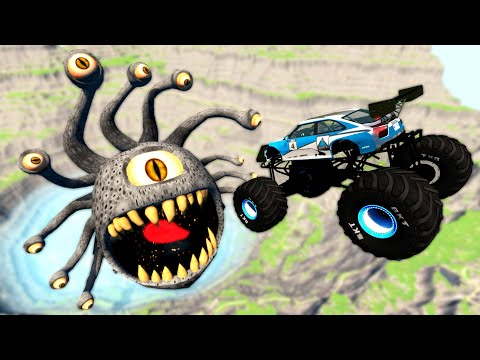 Off Road Cars Jumping In Quarry With Beholder - Beamng Drive Game |