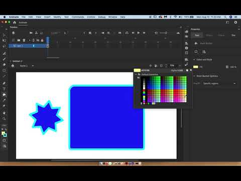 How to use Paint Bucket in Adobe Animate