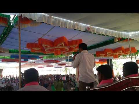 Telangana state panchayat Raj rural development minister son jupally arun kollapur meeting speach