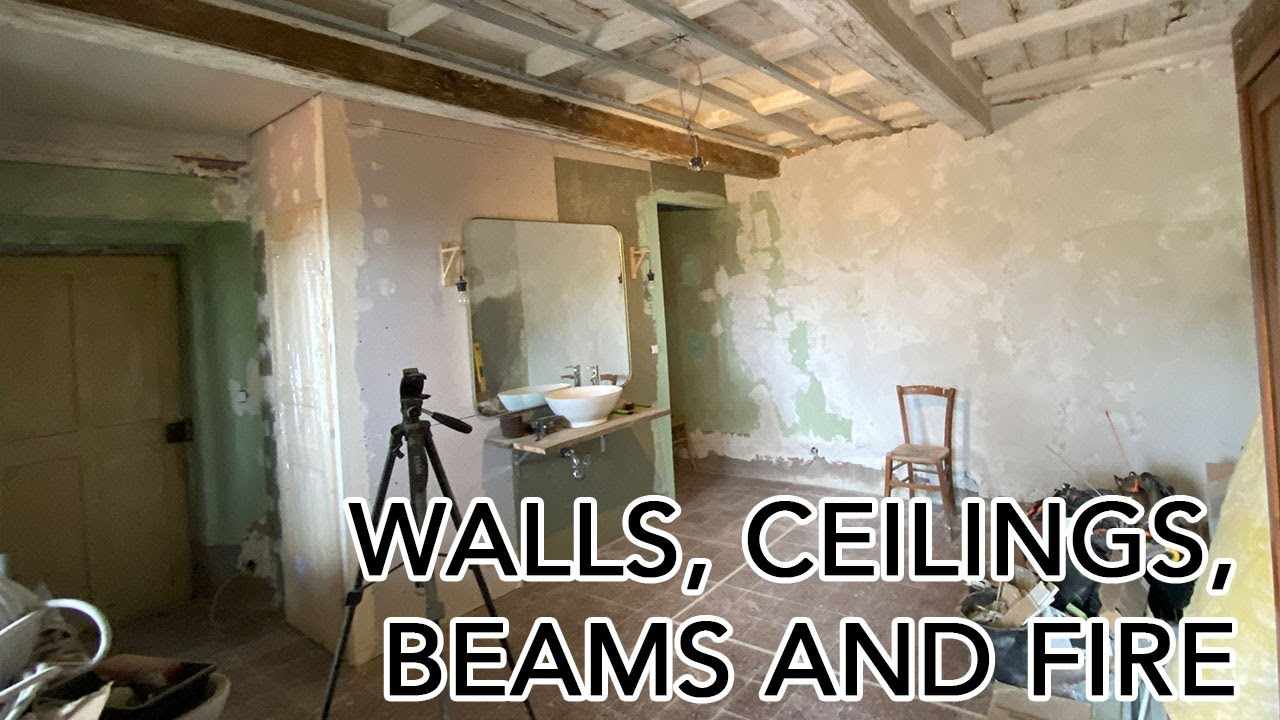 XL Update - Walls, Ceilings, Beams and Fire! A typical day restoring an old villa in Tuscany...