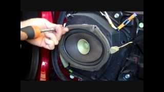 How to Mazda MX 5, Miata Front Bose Speaker and Tweeter Removal 2006 2013