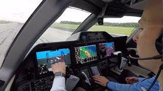 Phenom 300 Takeoff - Cockpit View Storms Around - Savannah GA