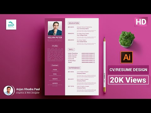 How To Create A CV/RESUME Template In Illustrator : ✪ Illustrator Tutorial ✪