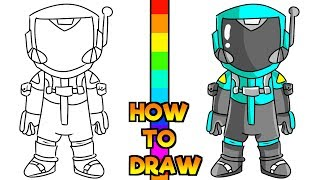 How to Draw Toxic Trooper Skin | Fortnite (Step by Step)