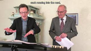 Rudolf Lutz and Karl Graf discuss the «Landsgemeindekantate» J. S. Bach-Stiftung