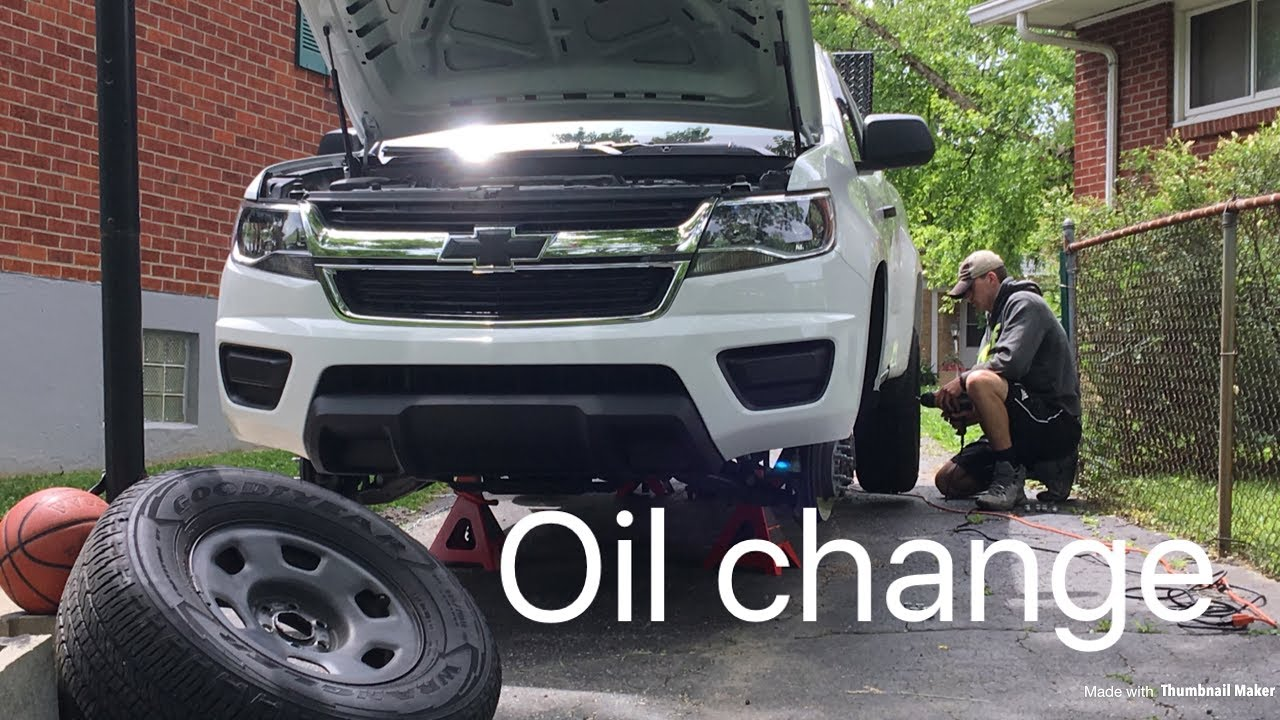 how to do an oil change on a 2016 chevy colorado v6 youtube. Black Bedroom Furniture Sets. Home Design Ideas