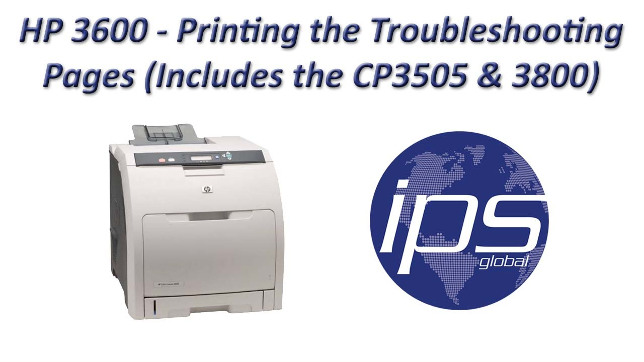 hp 3600 printing the troubleshooting pages includes the cp3505 rh youtube com HP LaserJet 3700 HP LaserJet 3505