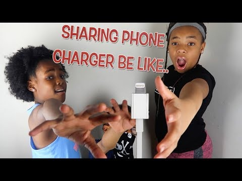 SHARING ONE PHONE CHARGER BE LIKE... ( FUNNY KIDS SKIT)
