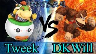 SKTAR 4 - DKWill (DK) vs Tweek (Bowser Jr)