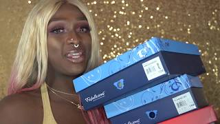Kandie got a BIG foot!! Size 12-14 Mens heels/Drag shoe review