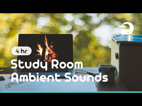 Study Room Ambience for Studying / Writing Sound & Bonfire Sound #285