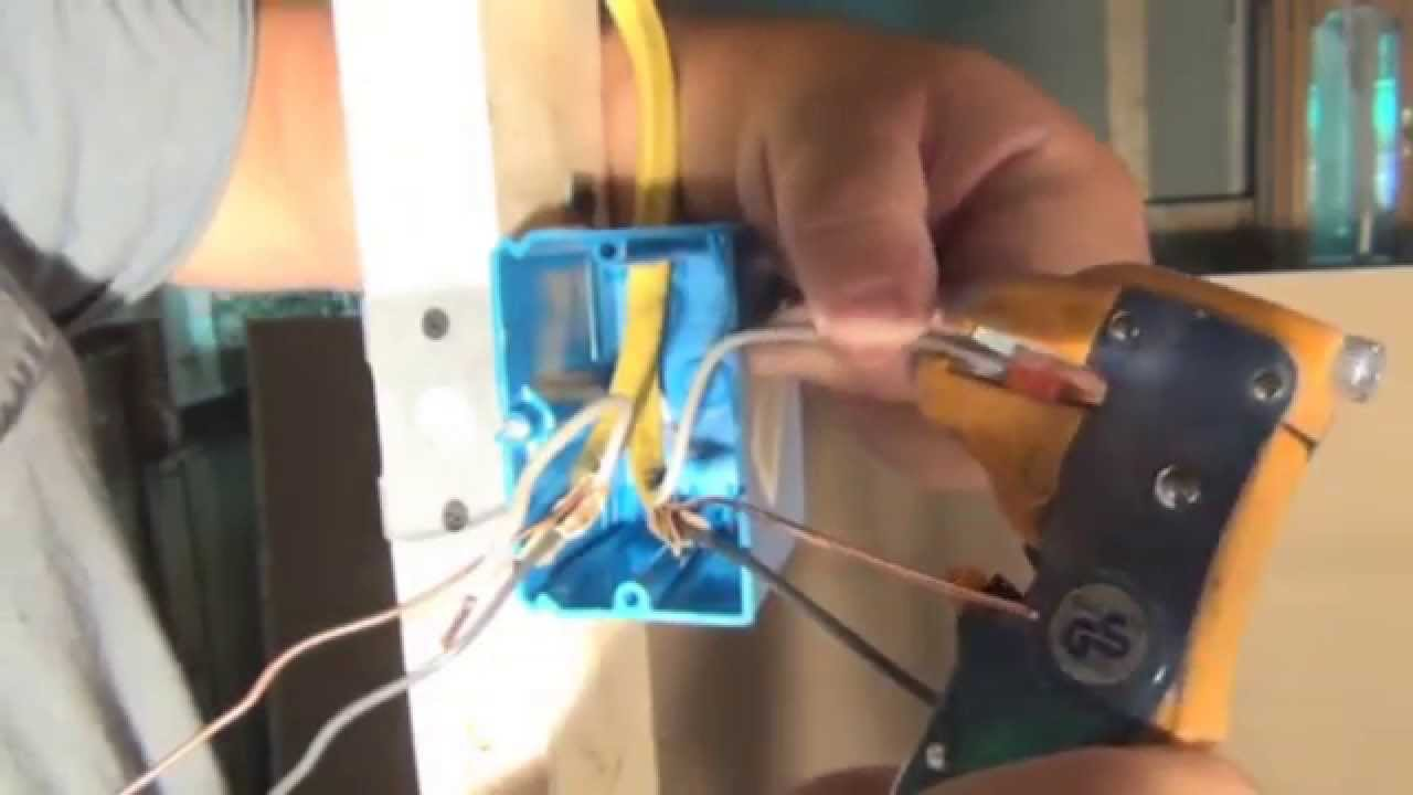 basement wiring diagram 2007 ford mustang radio how to install a light switch box and wire the video youtube