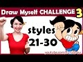 Art challenge draw myself in 10 animated art styles style challenge mei yu mp3 indir
