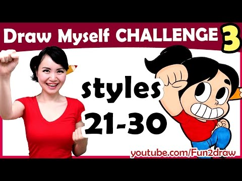 Art Challenge | Draw Myself in 10 Animated Art Styles! | Style Challenge | Mei Yu