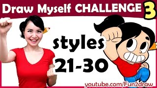 Art Challenge:  How to Draw Myself in 10 Animated Art Styles!(New Art Challenge! How to Draw Myself in 10 Animated, Cartoon, and Comic art style challenge, Part 3, one of top art challenges by Fun2draw! Watch how I ..., 2017-03-03T15:30:00.000Z)