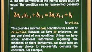 Lecture 12 - Cubic Spline Interpolation