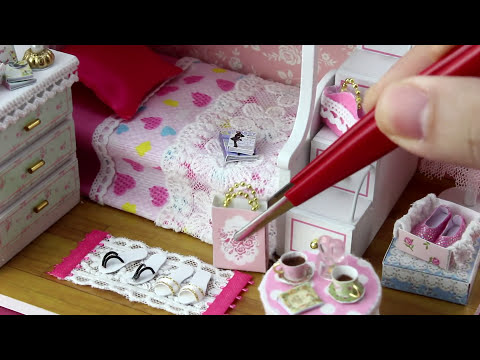 "DIY Miniature Dollhouse Kit With Working Lights ""Dream Angels"""