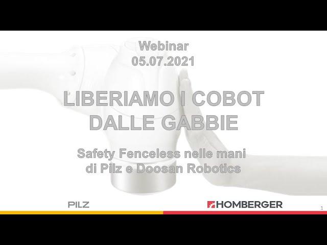 Liberiamo i cobot dalle gabbie : Safety Fenceless nelle mani di Pilz e Doosan Robotics