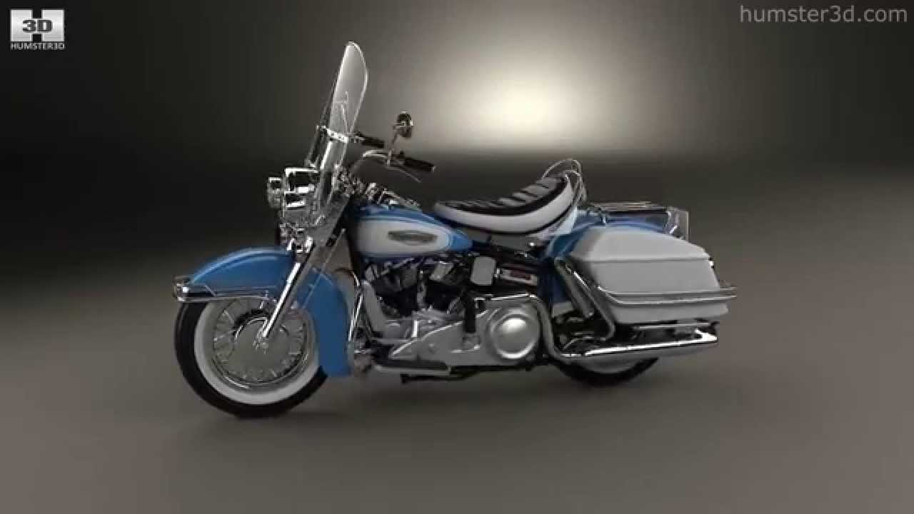 hight resolution of harley davidson flh electra glide shovelhead 1966 by 3d model store humster3d com