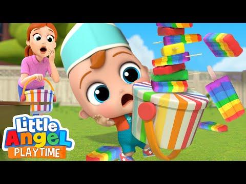 Rainbow Ice Cream Is So So Good! | Color Song | Little Angel Kids Songs