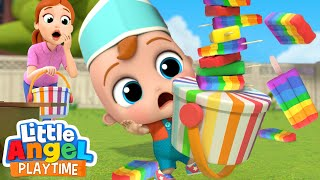Rainbow Ice Cream Is So So Good! | Color Song | Little Angel Kids Songs