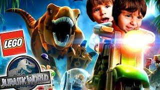 LEGO JURASSIC WORLD con Dani y Evan!! Somos DINOSAURIOS de JUGUETE Juegos y Aplicaciones para niños