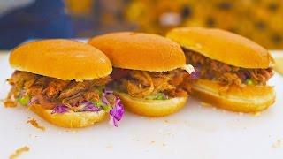 Булочки с НЕЖНЕЙШЕЙ свининой и домашним салатом!