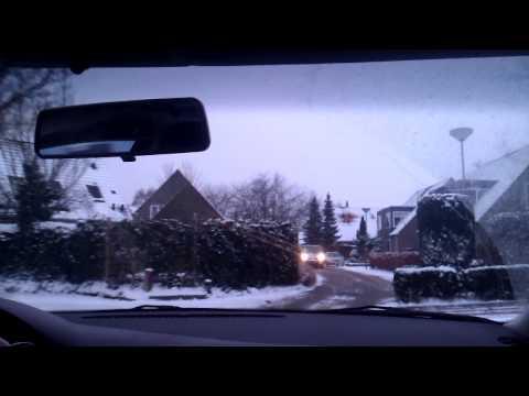 VW Jetta mk4 1.9tdi driving in snow cam test 1
