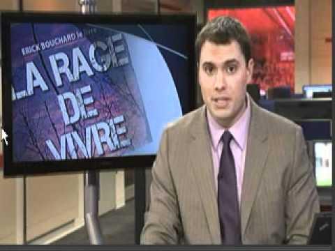 Téléjournal de 18 h à Radio-Canada avec Erick Bouchard auteur du livre : LA RAGE DE VIVRE