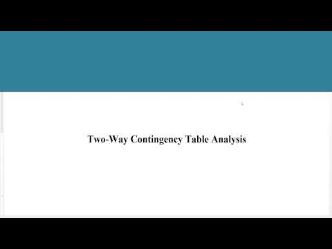 Two-Way Contingency Table Analysis 3x2 [3 By 2], Chi-Square, Fisher's Exact Test
