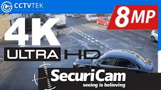 SECURICAM 4K (8MP) ULTRA HD CCTV Camera Outdoor Footage (DAY TIME)