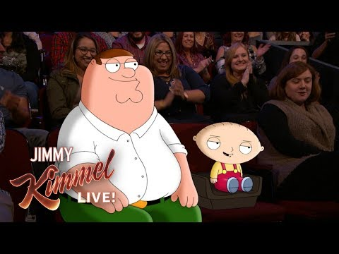 Jimmy Kimmel Talks to Peter & Stewie Griffin from Family Guy