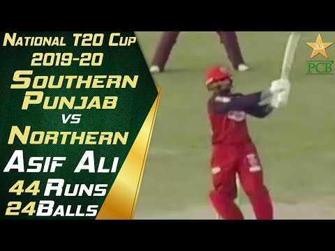 Asif Ali Batting Highlights   Southern Punjab vs Northern   National T20 Cup 2019-20