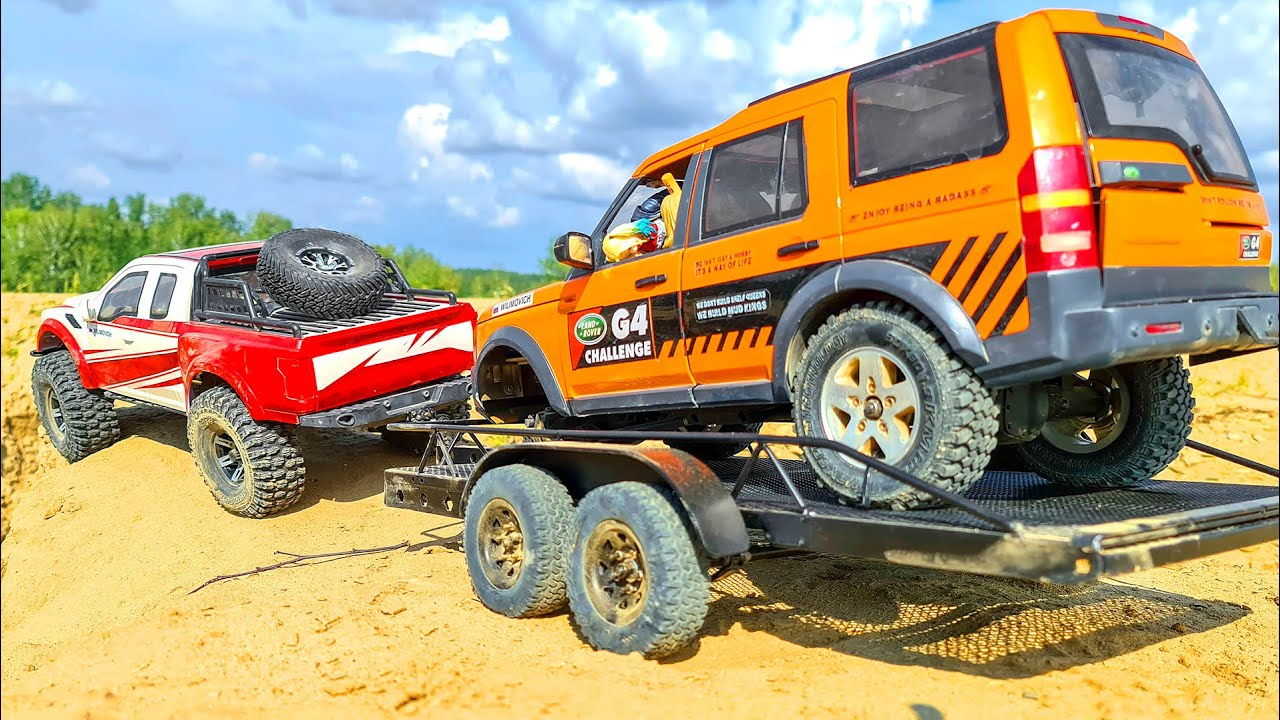 Transportation Cars Ford Raptor and MAN KAT Rescue Land Rover