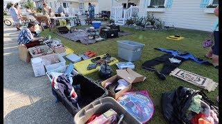 We Had MASSIVE BEACH TOWN YARD SALE - We Sold So Much!