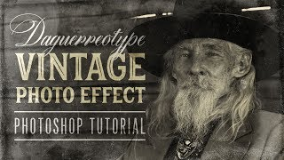 Daguerreotype Vintage Photo Effect Photoshop Tutorial + Free Textures!