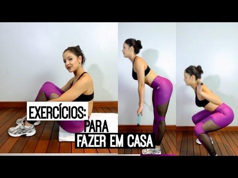 Exercícios de academia para fazer em casa!!
