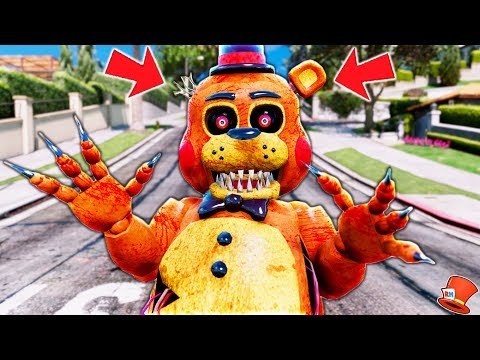 *NEW* NIGHTMARE TOY FREDDY ANIMATRONIC! (GTA 5 Mods FNAF RedHatter)