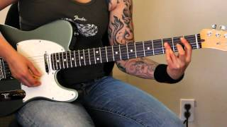 "How to play ""Keep Away"" by God Smack (rhythm guitar only) - Jen Trani"