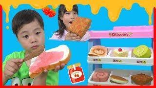 スライムジャムたっぷりパン屋さんごっこ お買い物ごっこ マザーガーデン こうくんねみちゃん Bread shop Spread thumbnail