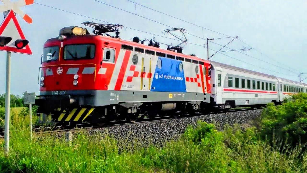Hz Vlak Intercity Train 581 Podravka Zagreb Osijek Croatian Railways 2012 Youtube