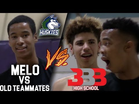 LaMelo Ball PLAYS vs OLD CHINO HILLS Teammates! After Melo Retires from Chino Hills!