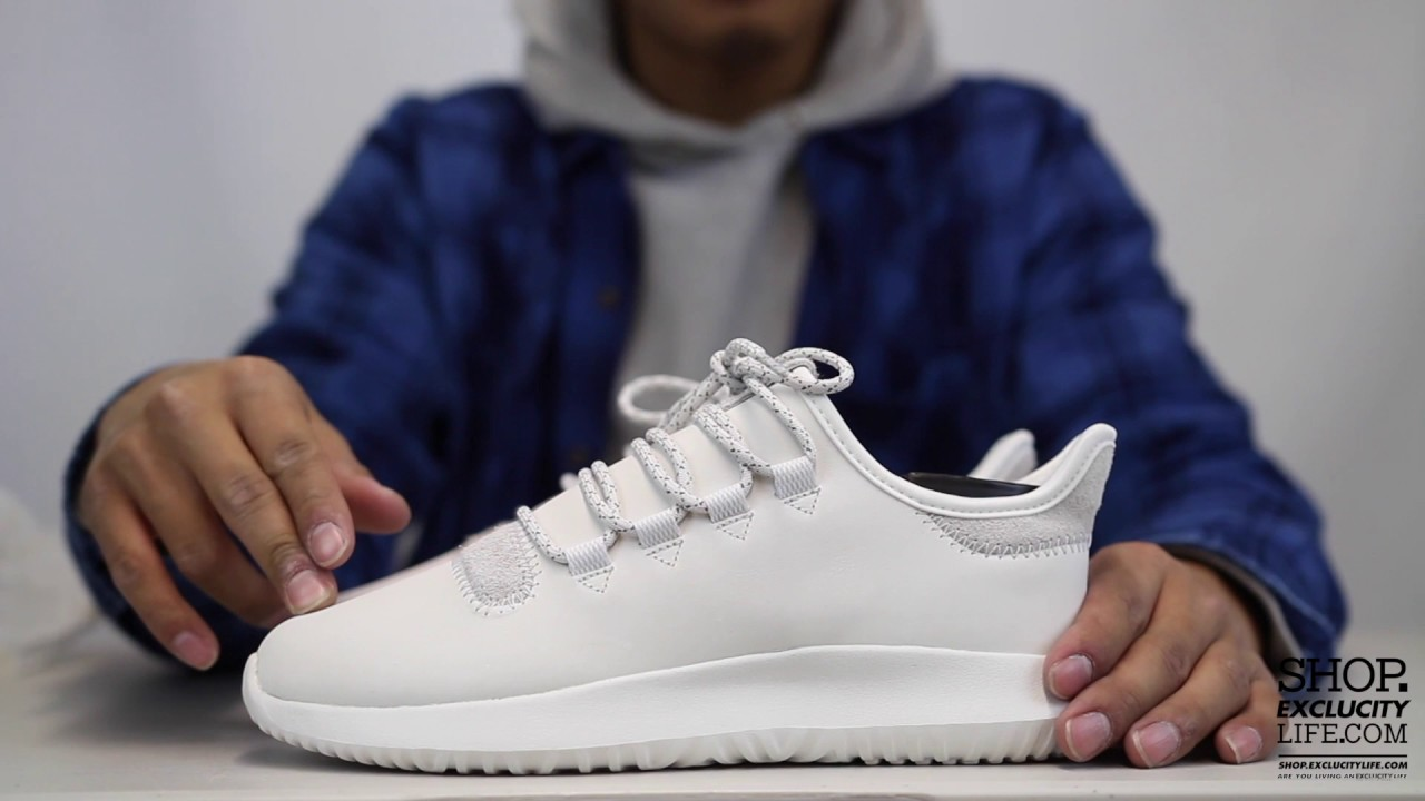 46e10f7d88e Adidas Tubular Shadow White Off White Unboxing Video at Exclucity - YouTube