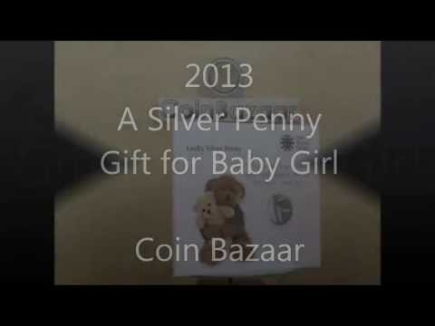 2013 A Silver Penny: Gift for Baby Girls - Christening Gift