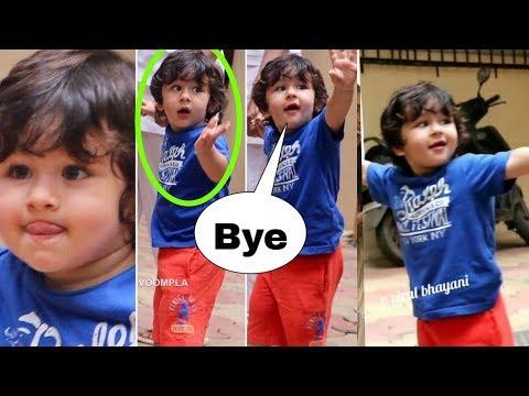 Prince Taimur Ali Khan speaking in his cute voice and says people BYE BYE |Kareena Kapoor Khan