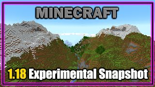 Exploring the Incredible Huge Mountains and Caves! | Minecraft 1.18 Experimental Snapshot 1