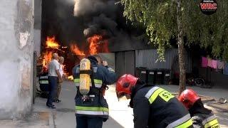 Pożar na ulicy Bydgoskiej w Wągrowcu