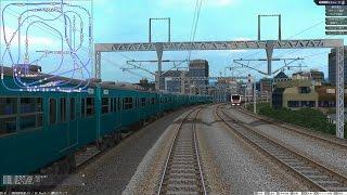 鉄道模型シミュレーター5 完全自動運転 複々線レイアウト 区間快速(往復80分)
