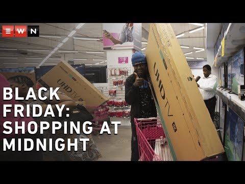 TVs fly off shelves at midnight Black Friday sale - YouTube